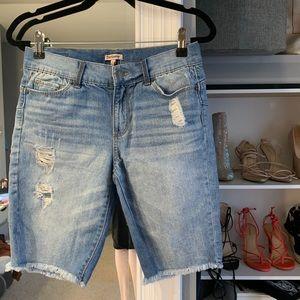 Juicy Couture denim biker shorts